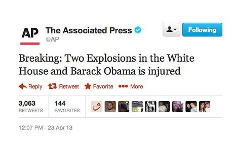 AFP Fake tweet