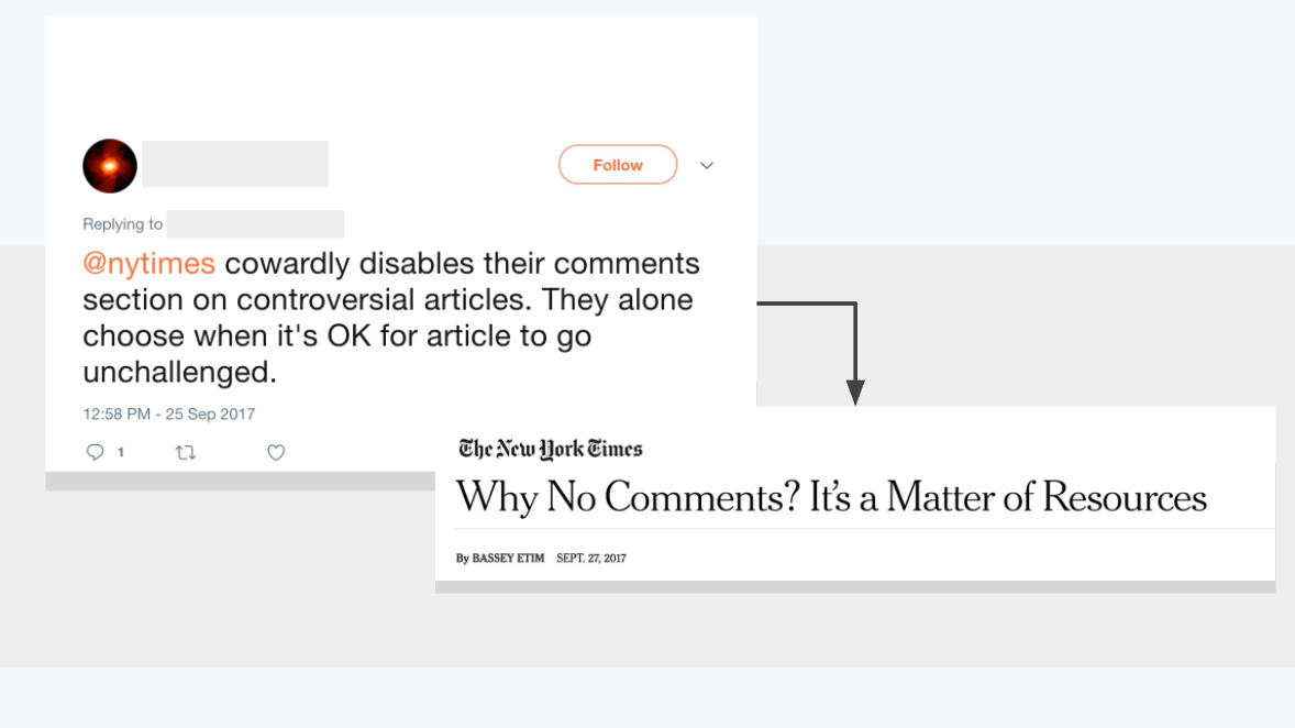 NYT closes comments