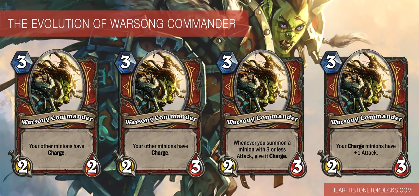 The evolution of the *Warsong Commander* card