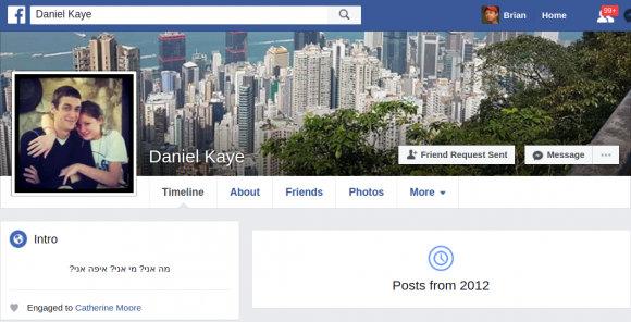 Daniel Kaye facebook page