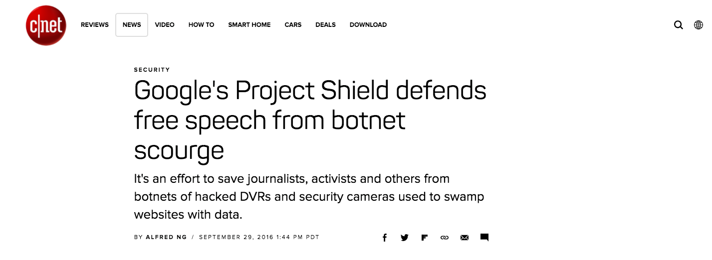 Krebs and project shield