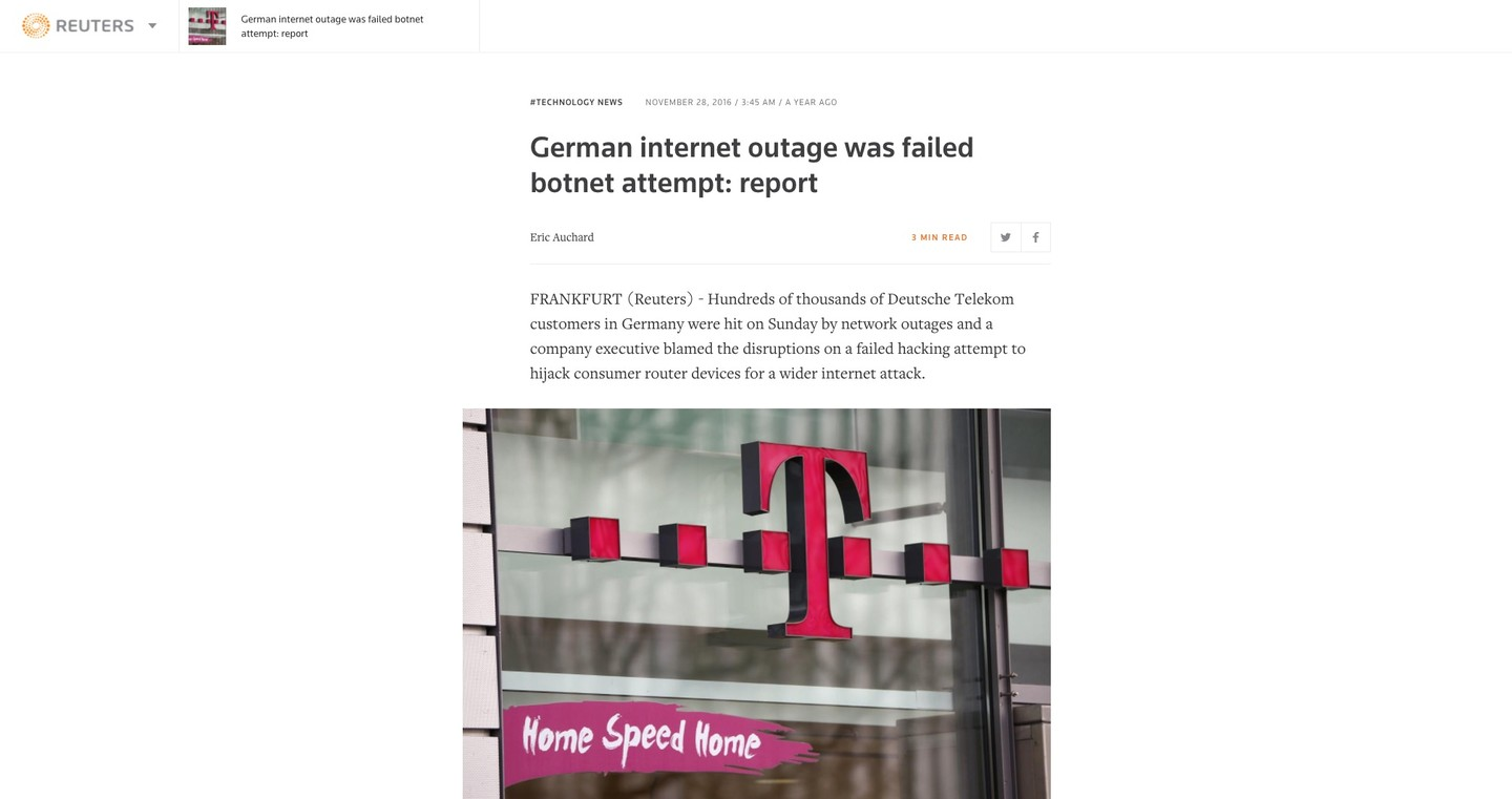 German outage Reuters