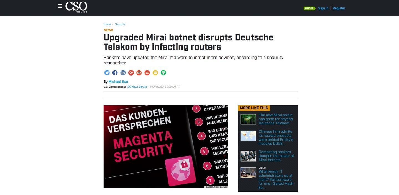 Deutsche Telekom outage