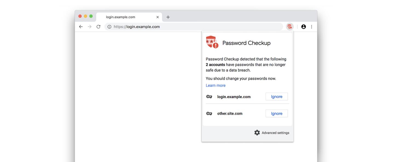 Password Checkup info box