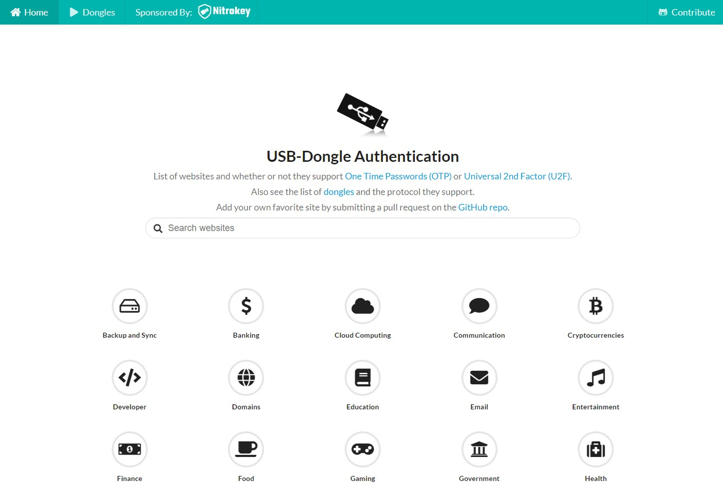 Dongle authentication