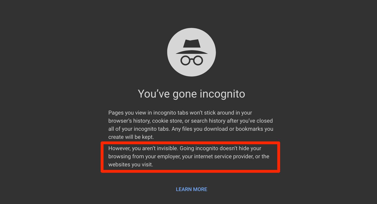 Understanding how people use private browsing