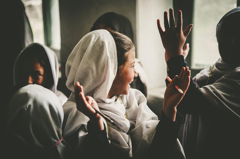 Pakistani girl learning